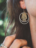 Brass Fringe Hoop Earrings