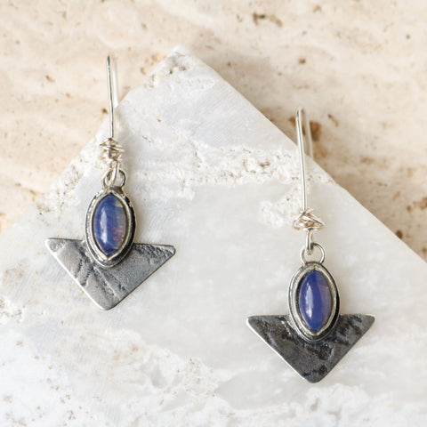 Geometric Leland Blue Earrings