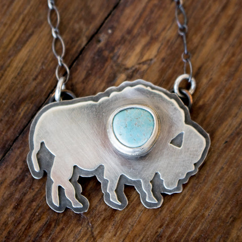 Bison + Royston Turquoise Necklace - Artisan's Bench