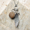 Lake Michigan Quartz Charm Necklace
