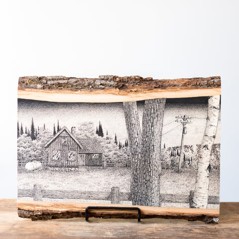 The Boonies | Drawing on Wood