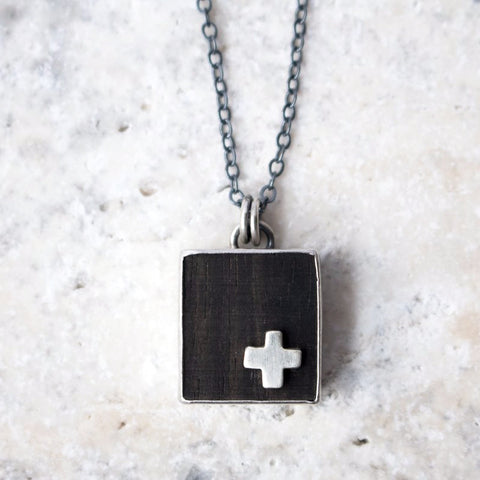 Wood Pendant w/Silver Plus - Artisan's Bench