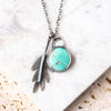 Carico Turquoise + Leaf Necklace