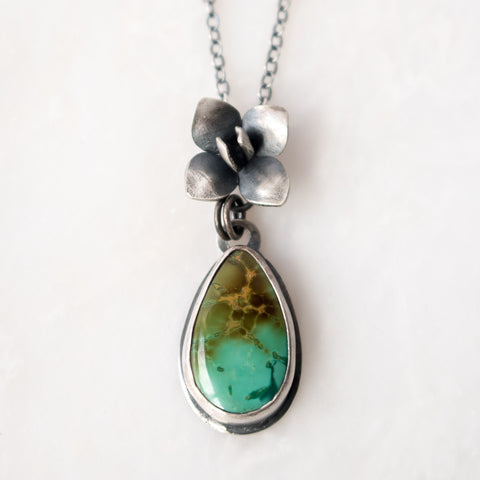 Turquoise + Succulent Necklace - Artisan's Bench