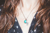Sierra Nevada Turquoise + Leaf Necklace