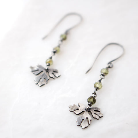 Foliage + Peridot Earrings no.1 - Artisan's Bench