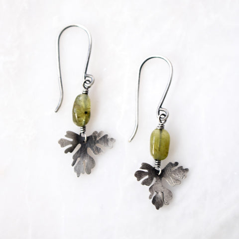 Foliage + Peridot Earrings no.2 - Artisan's Bench