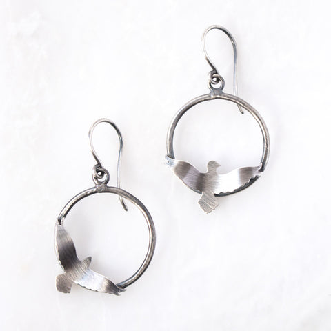 Flight Hoop Earrings - Artisan's Bench