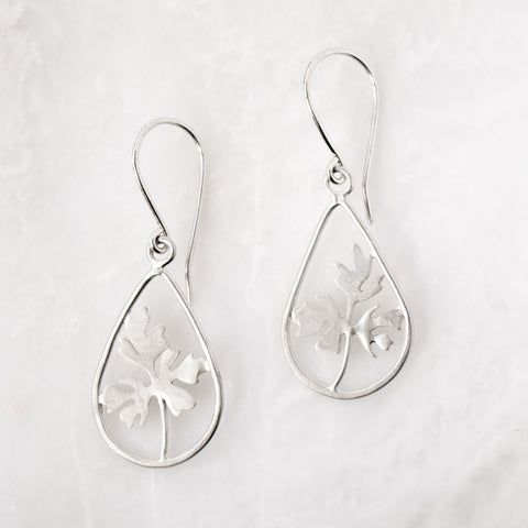 Foliage Teardrop Earrings - Artisan's Bench