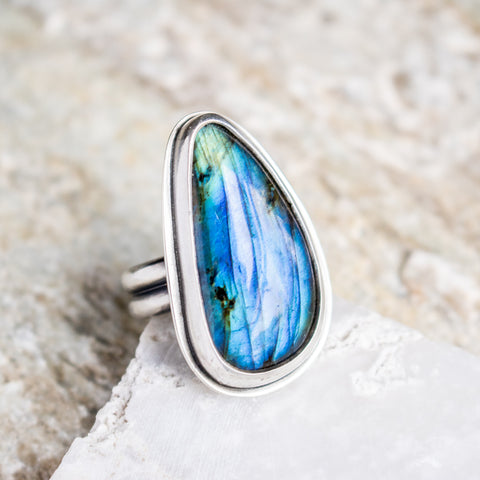 Size 8 1/2 | Labradorite Ring no. 2