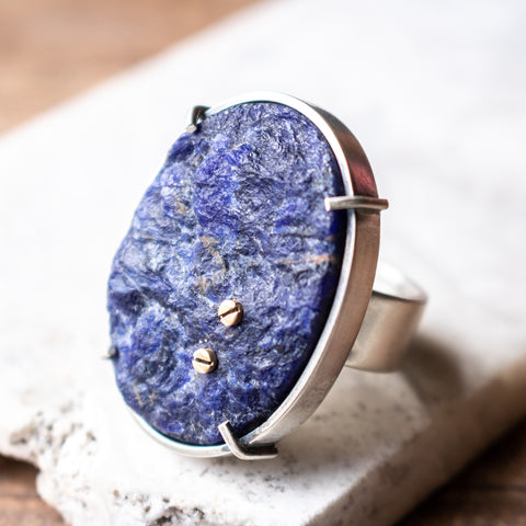 Size 8.5 | Bolted Sodalite Ring