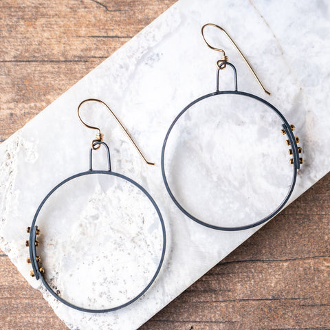 Simple Hoops w/Rivets no.2