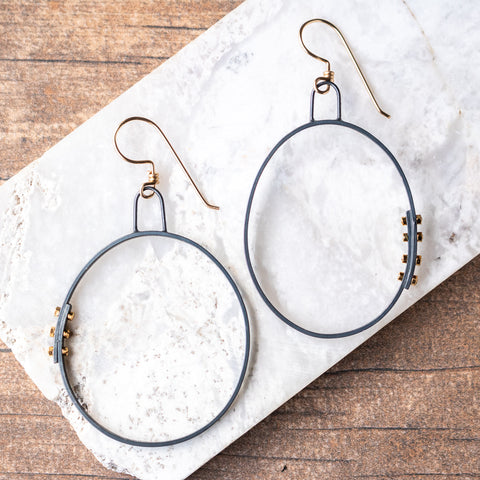 Simple Hoops w/Rivets no.3