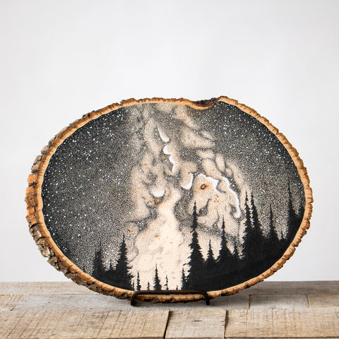 Somewhere Above the 45th Parallel | Drawing on Wood
