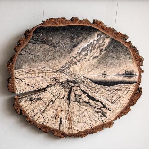 Georgian Bay Nocturne | Drawing on Wood
