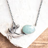 Aquamarine Botanical Necklace