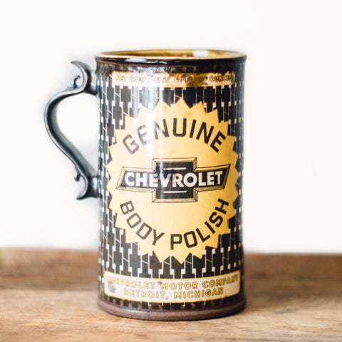 Oil Can Mug | Black Chevy