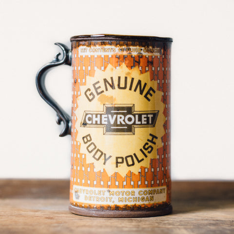 Oil Can Mug | Orange Chevy