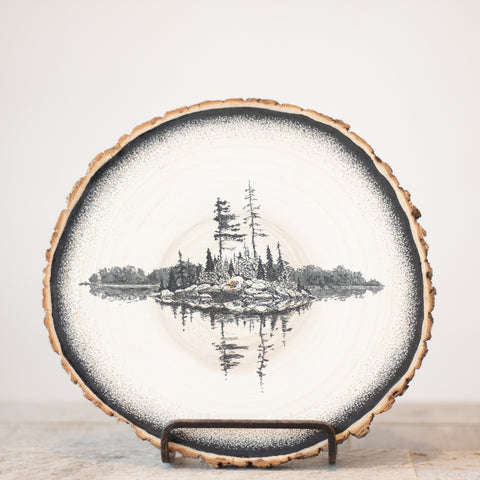 Pine Island | Drawing on Wood
