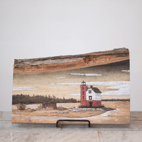 Round Island Lighthouse | Drawing on Wood