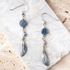 Kyanite Cicada Wing Earrings