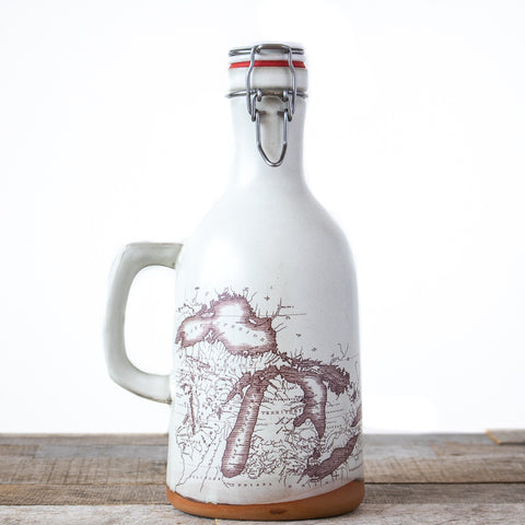 Michigan Map Growler | Cream