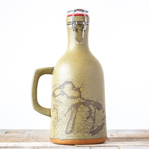 Michigan Map Growler | Green