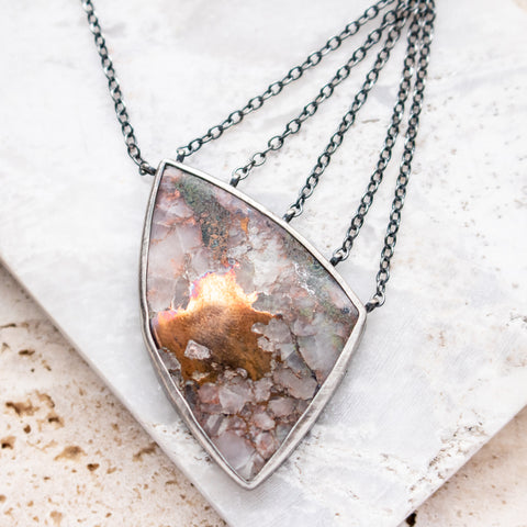 Copper in Quartz Necklace