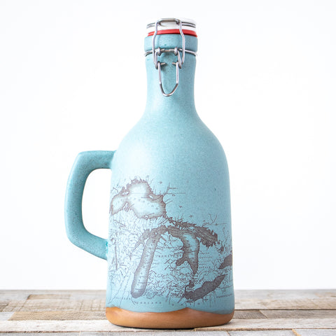 Michigan Map Growler | Blue