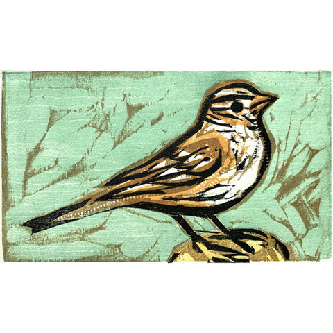 Little Sparrow 11x14 | Woodblock Print