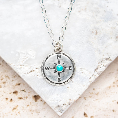 Turquoise Compass Necklace