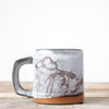 Michigan Map Coffee Mug | Grey