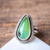 Size 5.75 | Chrysoprase Thin Teardrop Ring