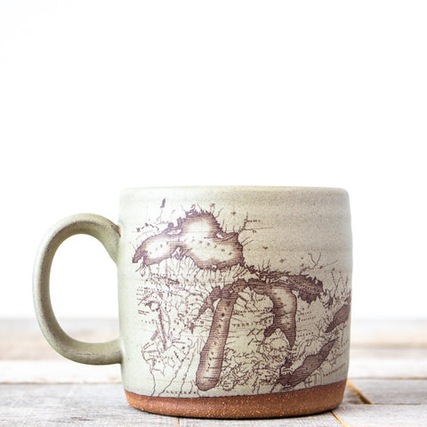 Michigan Map Coffee Mug | Oatmeal
