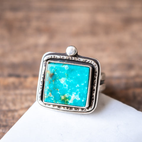 Size 6 | Kingman Turquoise Square Ring