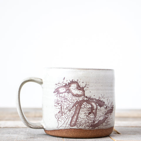 Michigan Map Coffee Mug | Cream