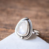 Size 9 | Moonstone Rounded Teardrop Ring