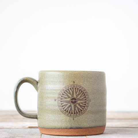 Compass Coffee Mug | Green