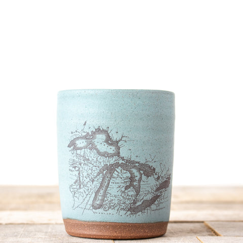 Michigan Map Tumbler | Blue