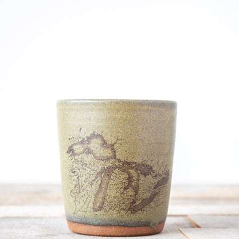 Michigan Map Tumbler | Green