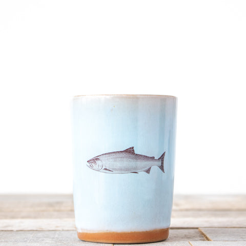 Salmon Fish Tumbler | Lt Blue