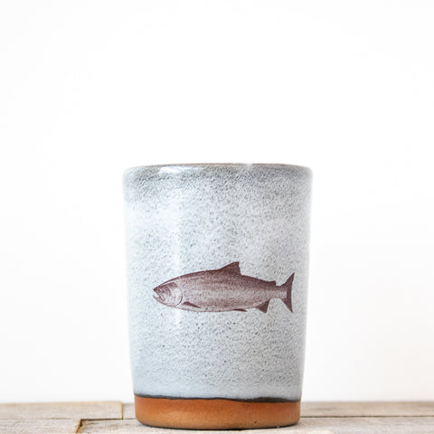 Salmon Fish Tumbler | Grey