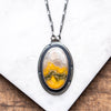 Bumblebee Jasper Oval Necklace