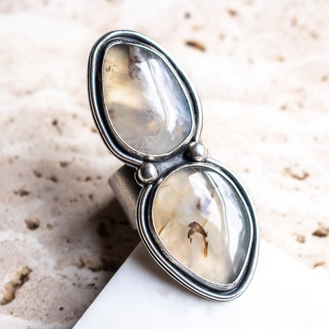 Size 9.25 | Double Montana Agate Ring