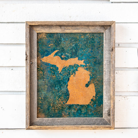 State of Michigan on Copper | 11x14