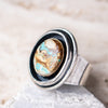 Size 8 | Leadville Turquoise Shadowbox Ring