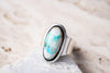 Size 7.5 | Bisbee Turquoise in Quartz Ring