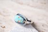 Size 7.75 | no.8 Turquoise Ring with Gold Detail