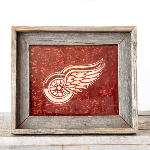 Red Wings on Copper | 8x10