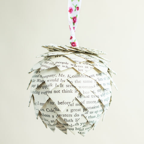 Emma Book Page Ornament
